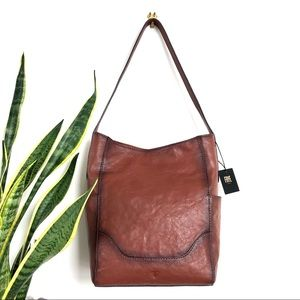 FRYE • Leather Side Pocket Hobo Shoulder Bag